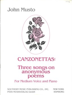 Canzonettas: Three Songs on Anonymous Poems